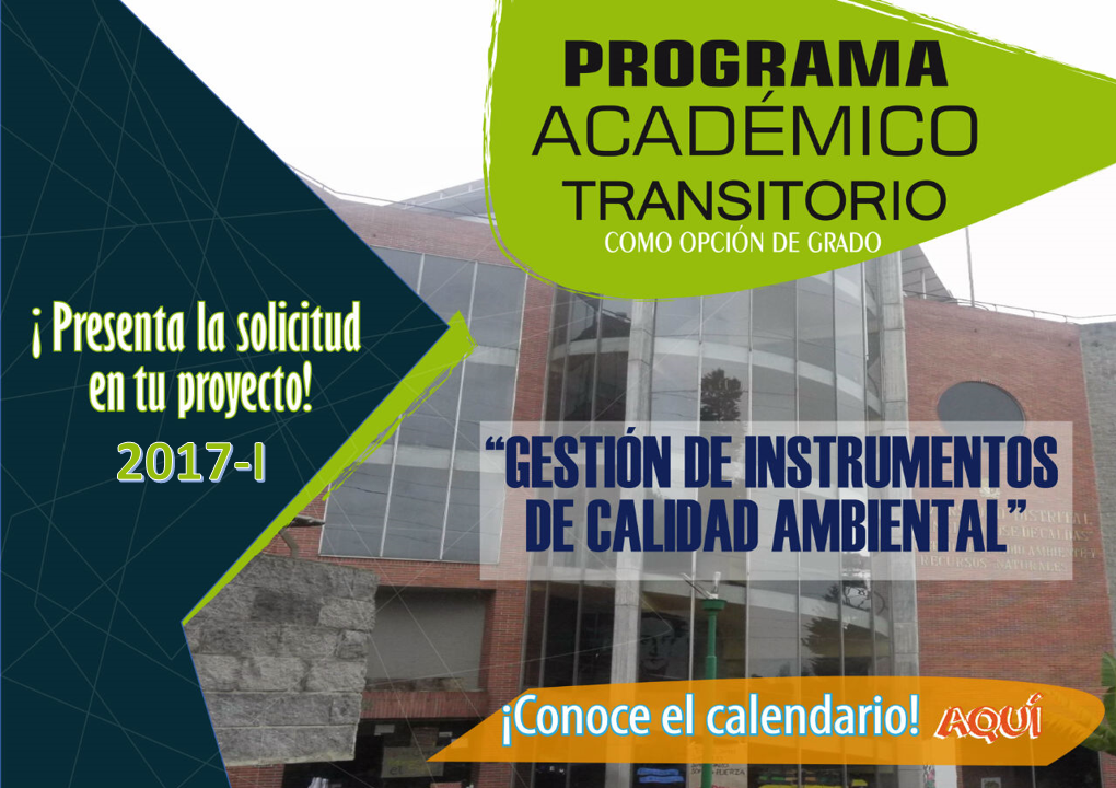 Calendario Programa Académico Transitorio 2017-I